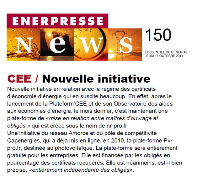 Enerpress (octobre 2011)